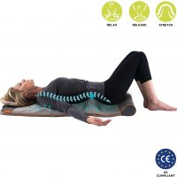HoMedics STRETCH - Yoga Mat with Adjustable Back Body Stretching, Release Tension, Improve Flexibility, 4 Built-In Treatment Programs, Simple Foldaway